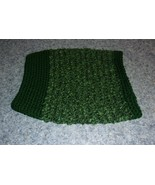 Brand New Hand Crocheted Green Dog Snood Neck Warmer For Dog Rescue Charity - $12.74