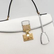 100% Authentic Christian Dior Addict Tote White Calfskin Bag GHW RARE image 4