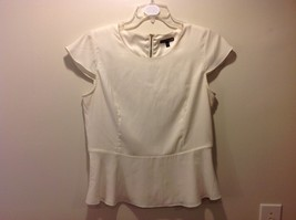 EXPRESS Creamy White Cap Sleeved Women's Blouse Size Large