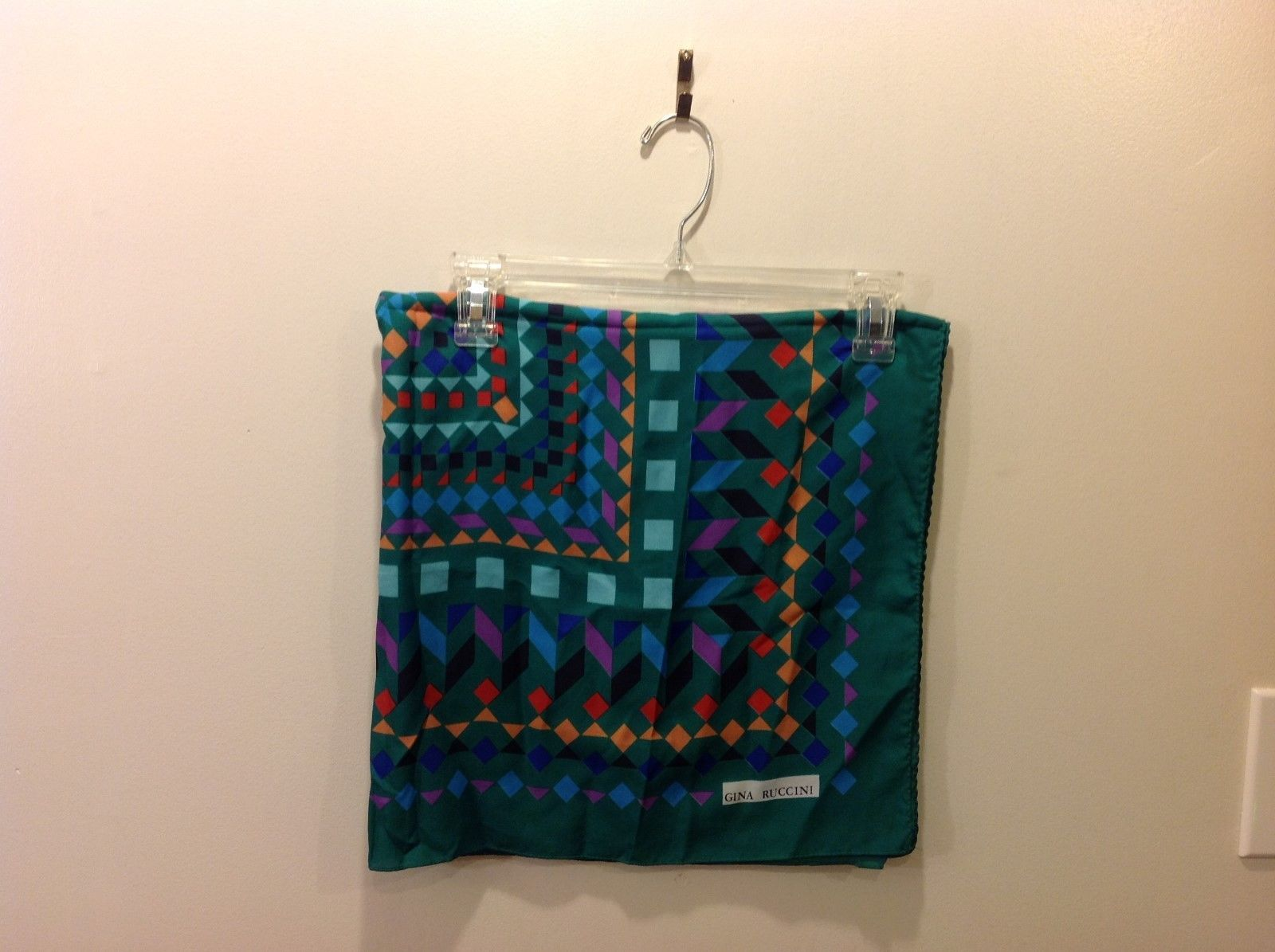 Gina Ruccini Symmetrical Multi-colored Aztec Pattern Scarf