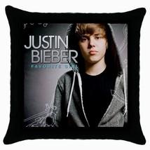 JUSTIN BIEBER  Black Cushion Cover Throw Pillow Case-02 - $15.00