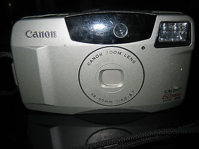 Canon Sure Shot 60 Zoom 35mm Point and Shoot Film Camera