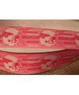"1 yard of 1"" DENVER BRONCOS Grosgrain Ribbon (Pink) - $1.18"