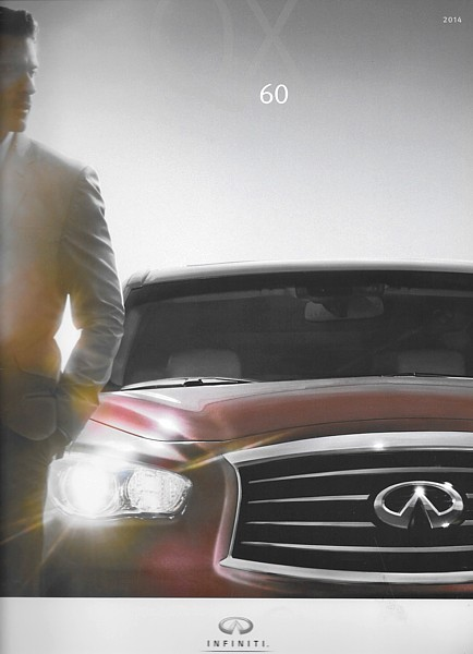 Primary image for 2014 Infiniti QX60 sales brochure catalog 1st Edition US 14 3.5