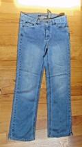 "Girls Denim DKNY Jeans Size 8 Stretch-Shirt-Waist 30""-Inseam 29 1/2""-Des... - $8.00"
