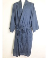 State O Maine Sleepwear Solid Blue Cotton Robe One Size - $34.64