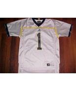 adidas NCAA Big Ten Michigan Wolverines 1 Boys White Blue Football Jerse... - $39.59