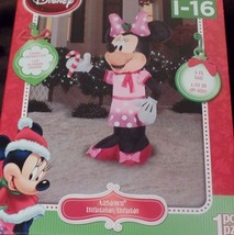 Disney Minnie Mouse Christmas Airblown Inflatable 5 Foot Lights UP Candy... - £32.37 GBP