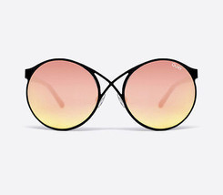 NEW QUAY Sorry Not Sorry Black/Rose Mirror Sunglasses         - £33.49 GBP