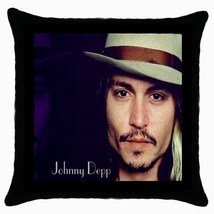 New Johnny Depp Black Cushion Cover Throw Pillow Case - $15.00