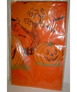 Vintage Paper Halloween Party Tablecloth - Unused - $10.00