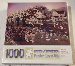 """1000 Piece Puzzle Brainteaser """"Spring Seedings"""" 20 inches x 27 inches Ne... - $12.01"""