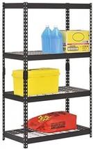 Muscle Rack Industrial Depth Steel Shelving Warehouse Unit 4-Shelf Blac... - $152.41