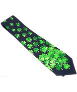 St Patricks Day Mens Neck Tie Necktie Irish Shamrock Holiday Green Blue - $29.95