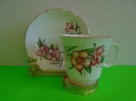 Beautiful Vintage Consort Pink Floral Design Cup & Saucer England bone c... - $16.99