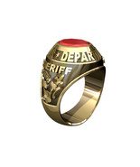 POLICE RING MENS TRADITIONAL-10KT GOLD - $1,195.00