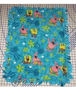 "Spongebob Squarepants Patrick Fleece Baby Blanket Pet Lap Hand Tied 30"" ... - $39.95"
