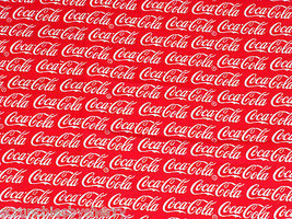 Coca Cola Coke Hair Scrunchie Fabric Tie Ponytail Holder Scrunchies by Sherry  - $6.99