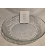 Princess House Large Crystal Bowl Fantasia Pattern Made in USA - $32.29