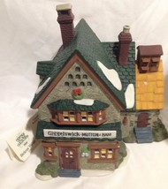 Department 56 Dickens Village Series Giggelswick Mutton & Ham Lighted In Box - $19.60