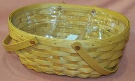 Longaberger Christmas Get Together Basket  w/ Divided Protector - $53.90