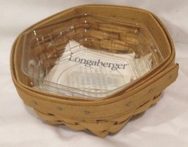 Longaberger New Booking Sage Basket w/ Protector - $21.56