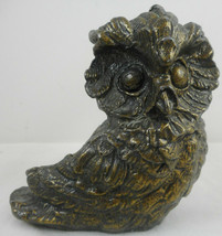 "Vintage Owl Candle Holder Candlestick Metal Small 3 1/2"" Taper - $20.78"