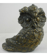 """Vintage Owl Candle Holder Candlestick Metal Small 3 1/2"""" Taper - $20.78"""