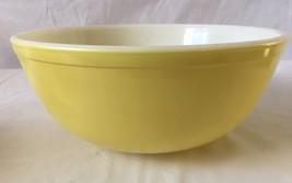 Vintage Pyrex Mixing Bowl 404 Yellow 4 Quart Nesting Bowl - $24.70