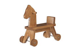 TODDLER RIDE ON HORSE - Amish Handcrafted Wood Walker Toy - Handmade in ... - $120.51