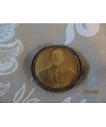 1800's unknown military man picture button pin,mfg pin-loc pat 1898 - $23.75