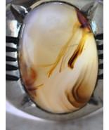 Silver agate aqeeq aqiq Men Ring-Middle Eastern... - $58.41
