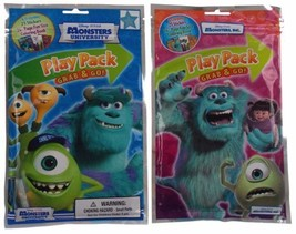 Set 5 Disney Pixar Monsters Inc University Play Packs Grab & Go Coloring... - $19.98