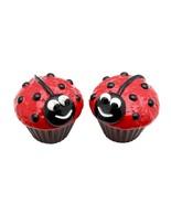 Appletree Design Ladybug Cupcake Salt and Pepper Set, 2-3/8-Inch - $12.86
