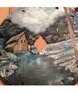 Order 4 Old Mill Creek Winter Sawblade, Handpainted, Vintage Saw, Gift Idea - $43.00