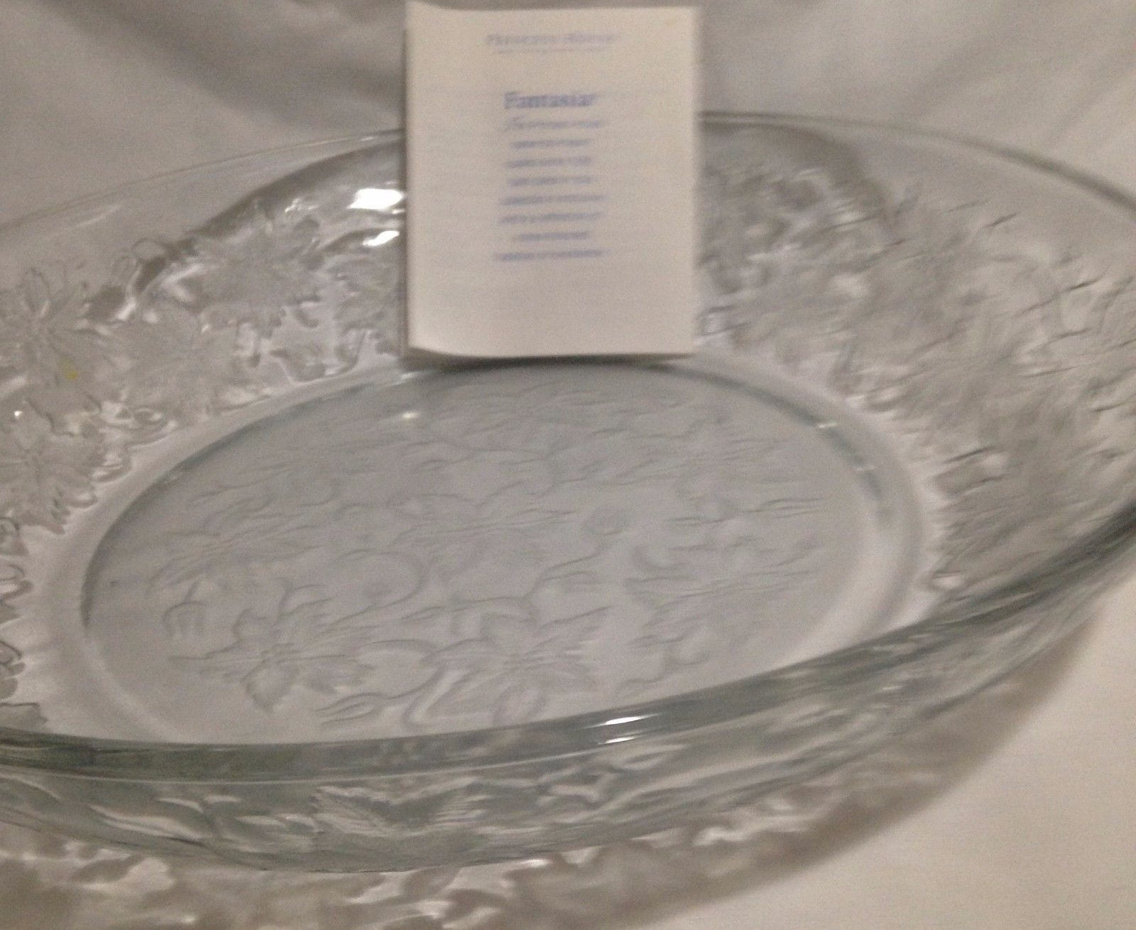 Princess House Large Crystal Bowl Fantasia Pattern Made in USA