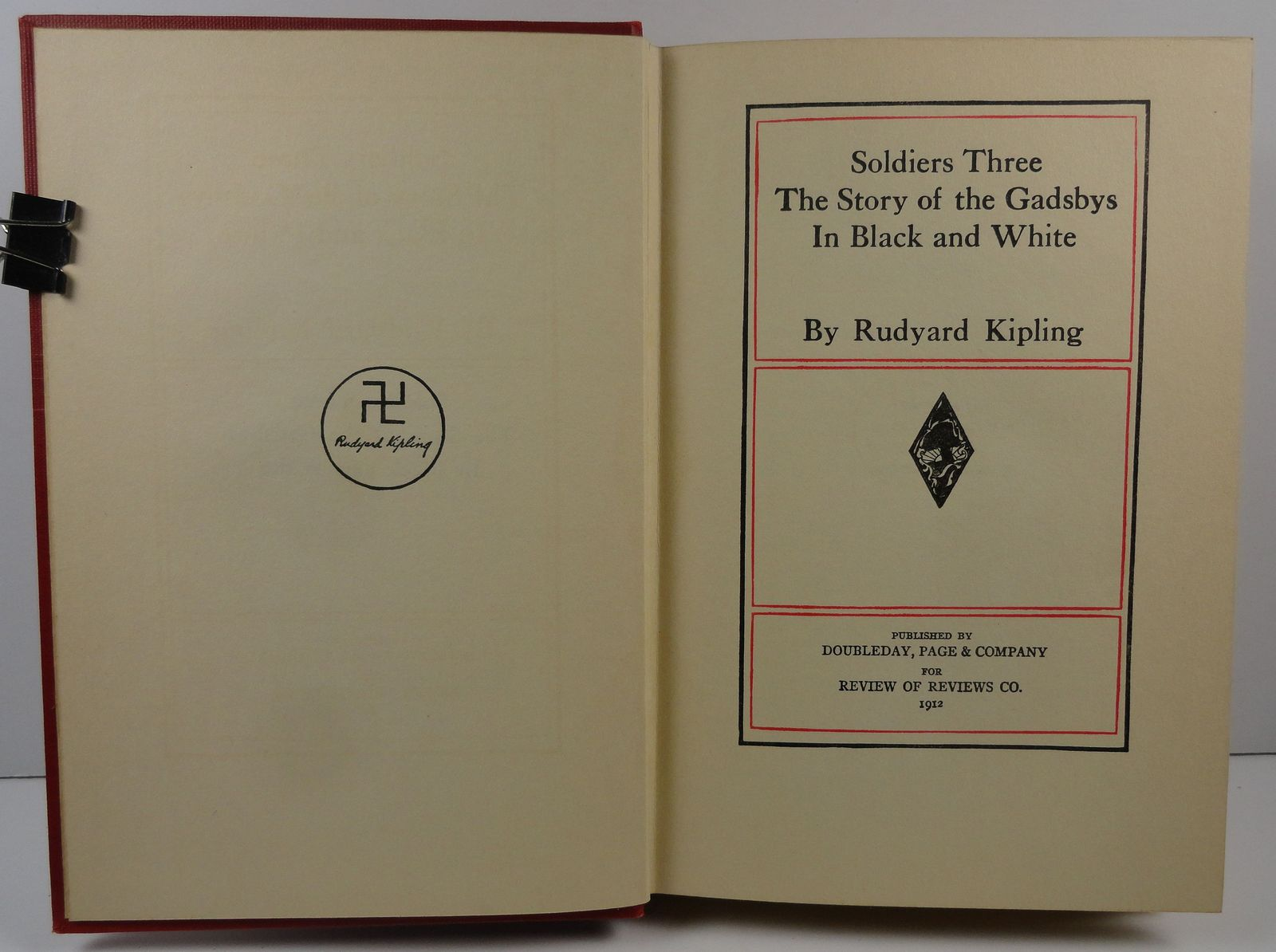 Soldiers Three, Story of the Gadsbys by Rudyard Kipling 1912