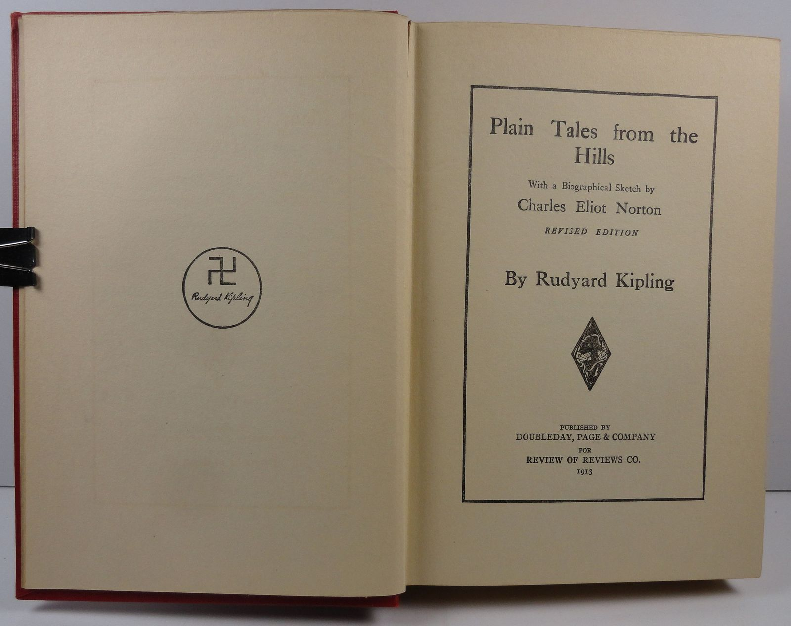 Plain Tales from the Hills by Rudyard Kipling 1913