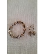 Silver Light Flower Bracelet and Earring Set Ha... - $18.00