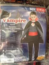 Vampire Halloween Costume Boys Size Small 4-6 - $17.82