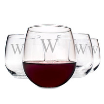 Personalized 16.75 oz. Stemless Red Wine Glasses (Set of 4) - $47.00
