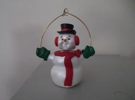 "1989 Hallmark Bobble Wiggly Head Snowman Christmas Ornament 3 1/2"" T - $12.86"