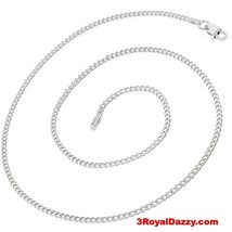 "Precious Italian Sterling Silver Anti-Tarnish Curb link Chain 2.2 MM 18 "" - $16.79"