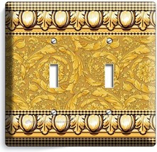 Greek Roman Victorian Pattern Decorative Double Light Switch Wall Plate Cover - $10.79