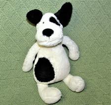 "Jellycat Bashful Puppy Tot Mini Stuffed Animal 8"" Dog Ivory Black Spot Ears Toy - $14.85"