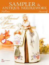 CLEARANCE Sampler & Antique Needlework Quartely Fall 2015  magazine issue - $3.50