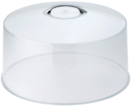 NEW 12'' Round Acrylic Cake Stand Cover with High Gloss Chrome Handle, D... - $19.78