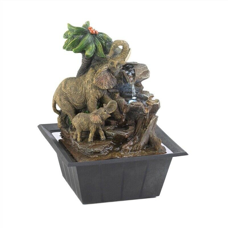 Elephant Family Tabletop Fountain - $35.57