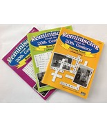 Reminiscing Thru The 20th C. For Seniors Word Searches Brain Teasers Cro... - $19.69