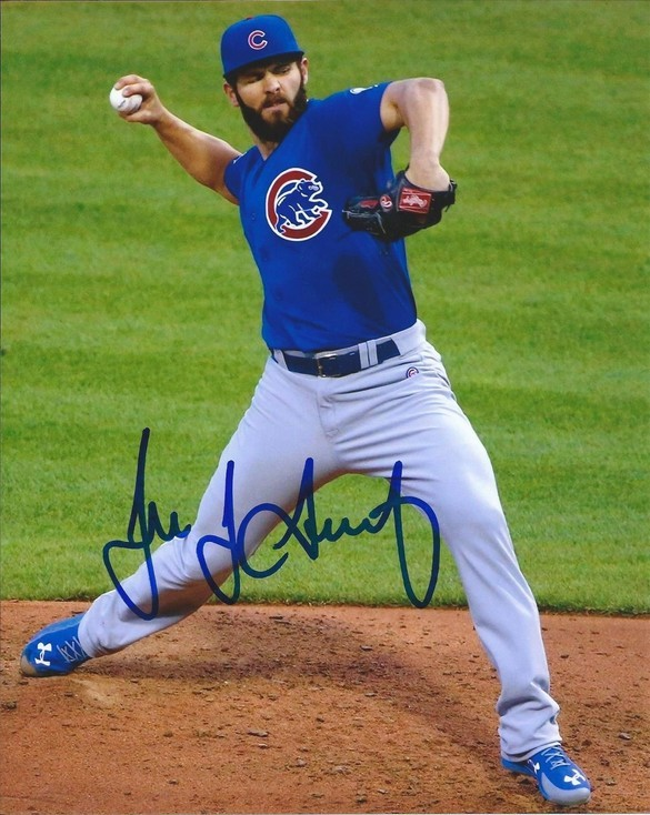 Jake arrieta signed cubs smalll cleaned